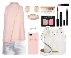 """""""Read D!"""" by crystalpandagoddess ❤ liked on Polyvore featuring Pieces, River Island, Kate Spade, Marc by Marc Jacobs, Kenneth Jay Lane, Adina Reyter, NARS Cosmetics, Stila, Jane Iredale and Smashbox"""