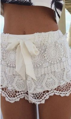 BEACH SAND WHITE LACE SHORTS | Dresses | Women Clothes | KOOGAL