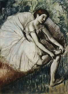 Tired Dancer by Edgar Degas