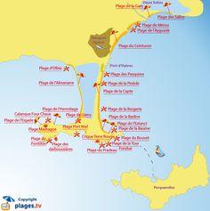 Plan des plages à Hyères et sur la presqu'île de Giens Char A Voile, Aix En Provence, Saint Tropez, French Riviera, Holiday Destinations, Places To Go, Travel, Sea Paradise, Palmiers
