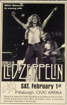 Led Zeppelin - February 1st, 1975 - Civic Center, Pittsburgh, PA - Concert Poster