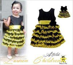 Vestido de abelhinha tal mãe tal filha