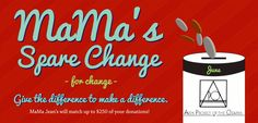 June's Spare Change is goin to the Aids Project of the Ozarks. Throw that spare change in the canisters at the registers.
