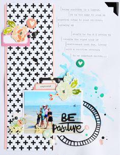 #papercrafting #scrapbooking #layout - May 2015 Mood Board