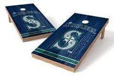 Seattle Mariners Single Cornhole Board - Vintage