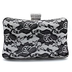 Ivory White Lace Wedding Bridal Evening Party Bag Purse Clutch Wallet  SKU-1110535