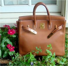 Hermes 32cm Barenia HAC / Birkin with Gold Hardware