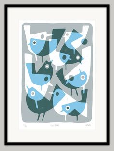 Ice Birds by Lo Cole - Limited edition archival pigment ink print