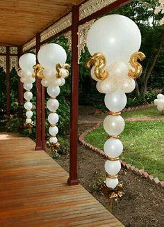 Decoración con globos para boda