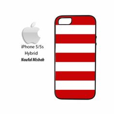 Red White Stripes iPhone 5/5s HYBRID Case Cover