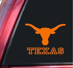 Texas Longhorn UT Vinyl Decal Sticker – Orange