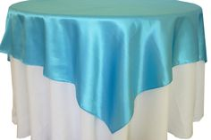 Wedding Reception Party Catering Table Linens Decorations BalsaCircle 72-Inch Turquoise Pintuck Table Overlays