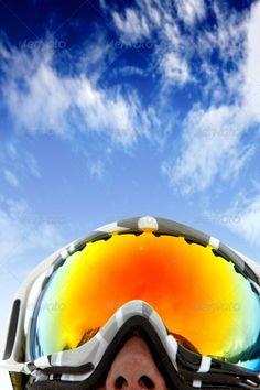 bbbcead6a831 Buy ski season by andresrphotos on PhotoDune. skier wearing ski glasses  over a blue sky