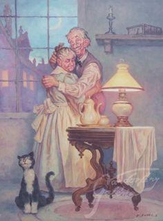 Philemon & Baucis - artist: Szász Endre László: Old People Love, Old Folks, Happy People, Vieux Couples, Old Couples, Illustrations, Illustration Art, Photo Humour, Growing Old Together