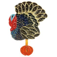 Thanksgiving Turkey – fridge magnet. Handmade home decor.