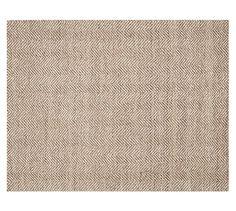 Chevron Wool Jute Rug - Mocha | Pottery Barn