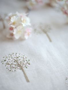 The Embroidered French Orchard Limited Edition £85pm - Peony & Sage