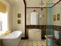 78 Exciting Modern And Luxury Bathroom Design Ideas For Small Bathroom Small Bathroom Wallpaper, Small Bathroom Interior, Bathroom Design Luxury, Tiny House Bathroom, Classic Bathroom, Bathroom Styling, Home Interior, Modern Bathroom, Bathroom Ideas