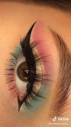 Makeup Eye Looks, Eye Makeup Steps, Eye Makeup Art, Colorful Eye Makeup, Skin Makeup, Makeup Inspo, Eyeshadow Makeup, Makeup Inspiration, Makeup Brushes