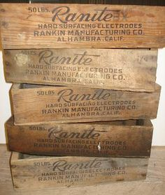 Love wood crates