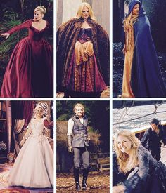 Emma's wardrobe in the enchanted forest.