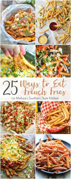 Whether you like them skinny, cut into wedges, sprinkled with seasonings, or drizzled with malt vinegar one fact remains, these 25 Ways to Eat French Fries are the ultimate finger food!