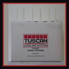 Tuscan Levelling System Strap - Per Box Tiling Tools, Tile Installation, Stone Tiles, Accessories Shop, Box, Floors Of Stone, Snare Drum