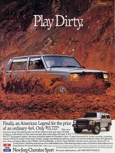Jeep Cherokee Sport ad (1988)
