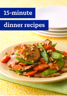10 15-Minute Dinners – These delicious and easy recipes are the answer when a quick dinnertime dish is what you need. From chili to salmon and everything in-between, check out these savory and delicious meal ideas to serve on your dinner table in no time!