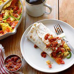 Easy camping recipes   Smoked Salmon Breakfast Burrito
