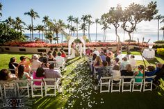 Say hello to your dream Maui wedding at the Hyatt Regency Maui Resort and Spa! Find out more here: http://www.stylemepretty.com/2016/03/03/beautiful-destination-weddings-at-hyatt-regency-maui-resort-and-spa/