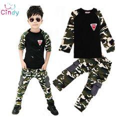 $13.00 (Buy here: https://alitems.com/g/1e8d114494ebda23ff8b16525dc3e8/?i=5&ulp=https%3A%2F%2Fwww.aliexpress.com%2Fitem%2FGirls-set-Children-s-clothing-set-2014-summer-minnie-girls-casual-two-piece-suits-kids-T%2F1933970506.html ) 2016 New Camouflage Kids Clothing Set for Boys&Girls Spring&Autumn Cotton Camo Boys Sports Set Girls kids clothes free shipping for just $13.00