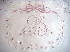 This monogram was designed to match  a Lilly of the valley fabric