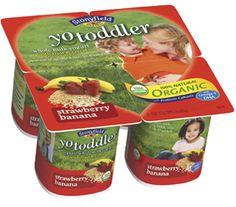 Stonyfield Farms YoToddler yogurt