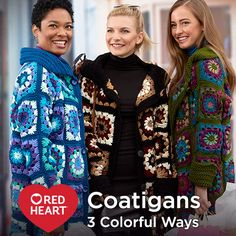 When Gigi Hadid was spotted wearing this designer granny coat and scarf (retailing for over $1,000), we knew we had to show crocheters how they could get the same look at a fraction of the price! So we are excited to show you how to use our much more reasonably priced Red Heart yarns to crochet your own Granny Sweater Coat.