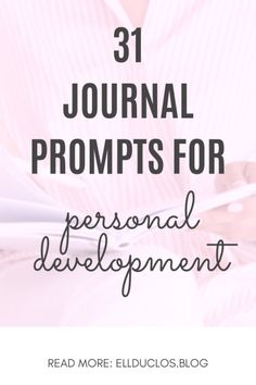Journal Prompts for Personal Growth & Discovery - ELLDUCLOS 31 Journal prompts for personal growth and development. Questions for personal growth and self improvement. Journaling prompts for self discovery. January Journal Prompts, Journal Writing Prompts, Self Development, Personal Development, What Motivates Me, Words That Describe Me, Journey, Self Improvement Tips, Toxic Relationships
