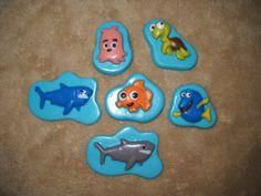 1 chocolate cupcake topper nemo dory fish shark lollipops lollipop   sapphirechocolates - Edibles on ArtFire