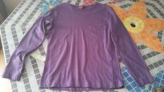 Tshirt violet à manches longues taille 12 ans