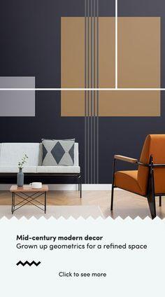 Geometric Wallpaper Living Room, Geometric Wallpaper Design, Geometric Wall Paint, Wallpaper Designs, Geometric Shapes, Modern Wall Paint, Home Wall Paint Design, Painted Wall Designs, Interior Design Wallpaper