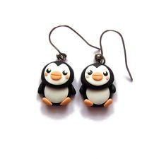 cedaf6470536 penguin earrings polymer clay kawaii gifts ideas for girls kids children  jewelry