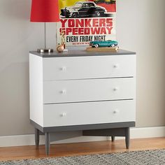 Stock Car Action Banner in Transportation Wall Art | The Land of Nod
