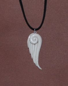 Whimsical Angel Wing Pendant Necklace : Polymer Clay : Tutorial - angel wings pendant - http://jewelry.airgin.org/pendants/whimsical-angel-wing-pendant-necklace-polymer-clay-tutorial-angel-wings-pendant/