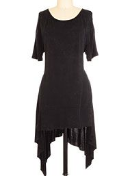 Tops & Tees - As Darkness Falls Distressed Tunic Top by Plasticland Clothing