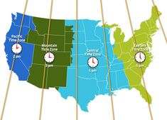 Very Helpful Gives You The Current Time In EACH Time Zone Across - Us map with time zone lines