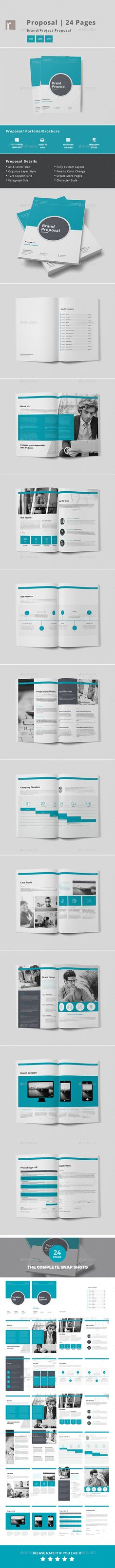 Minimal and Professional Proposal Brochure template for creative - pages invoice template