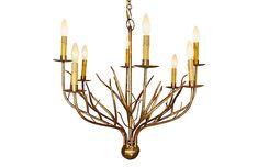 Lyanne 8-Light Chandelier - Italian Gold