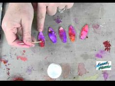The Art of Friendly Plastic: Hot Summer Floral Pendant - How to use alcohol inks with Friendly Plastic - New Friendly Plastic TV VIDEO!