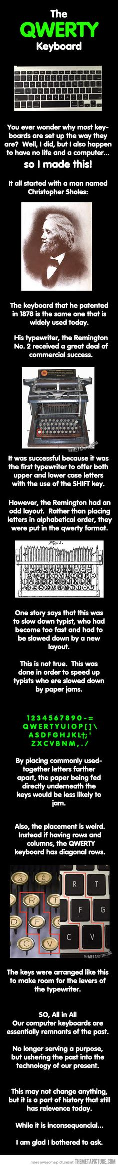 Ever Wonder about the keyboard layout??