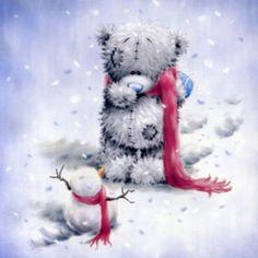 me-to-you-christmas-card-tatty-teddy-bear-with-little-snowman-12386-p.jpg (400×400)