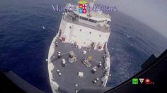 Marina Militare - SAR- Trasporto in elicottero di un Migrante - www.HTO.tv